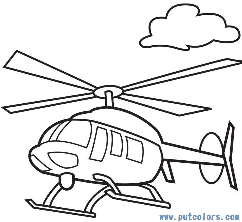 Free Coloring Pages Of Colour In Helicopter