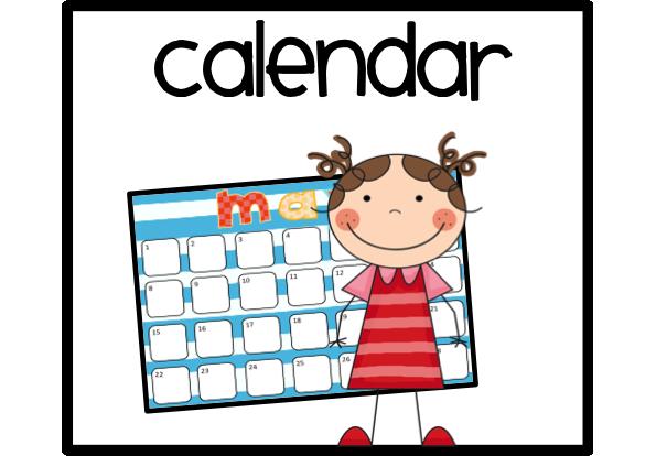 Kindergarten Calendar Powerpoint : Calendar helper clipart panda free images