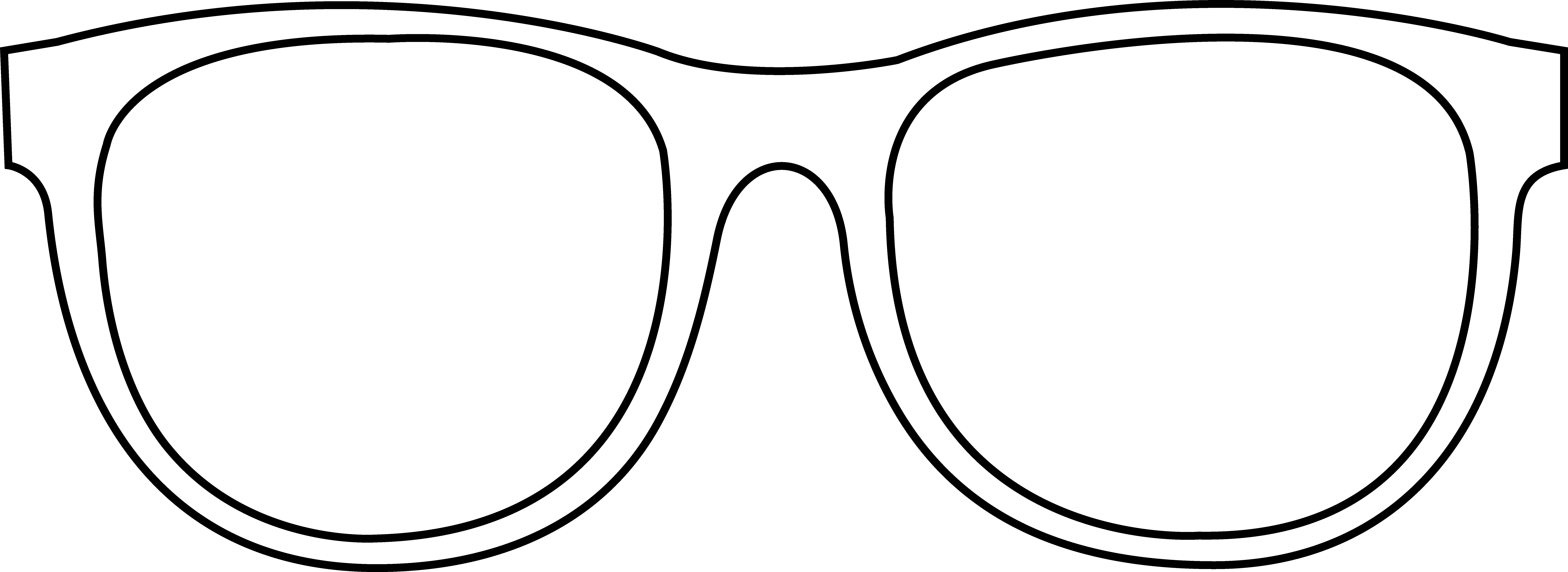 Line Drawing Glasses : Sunglasses clipart black and white panda free