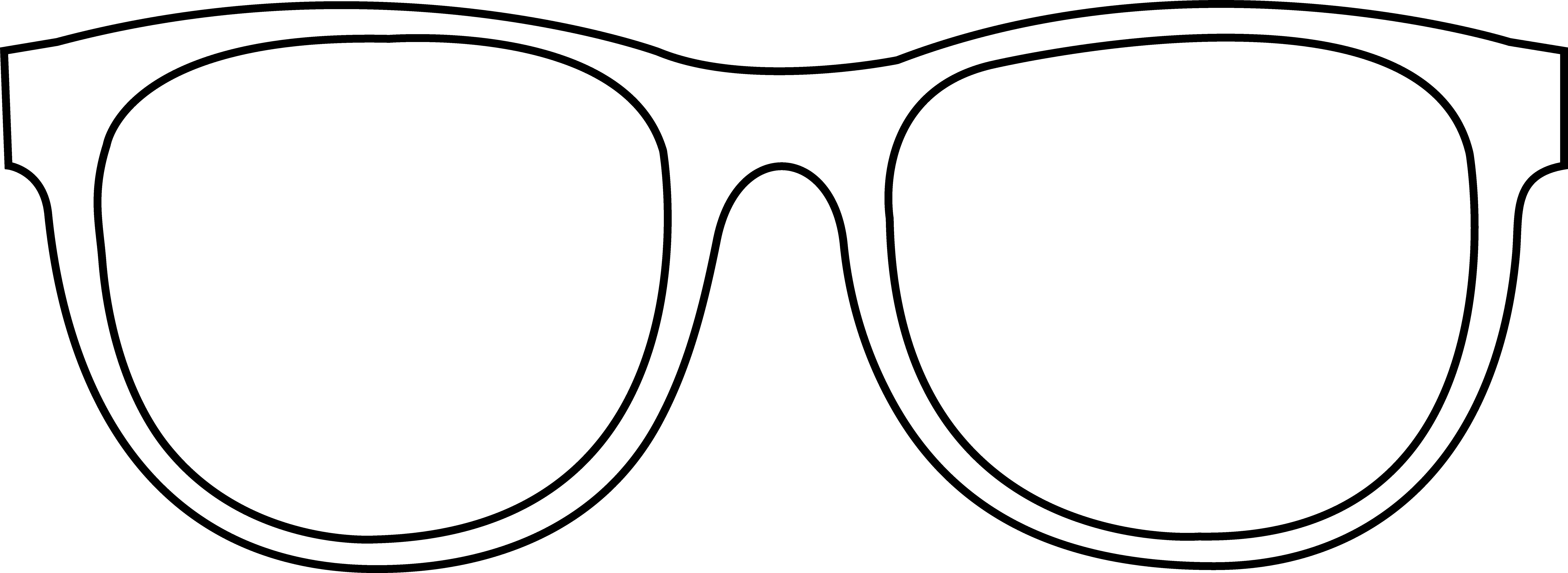 Line Art Glasses : Sunglasses clipart black and white panda free