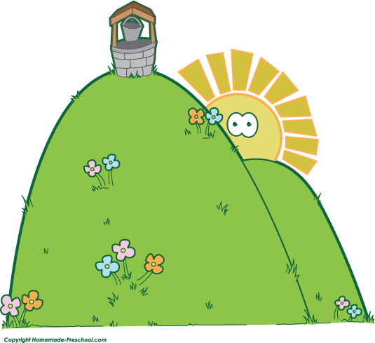 house on hill clipart - photo #31