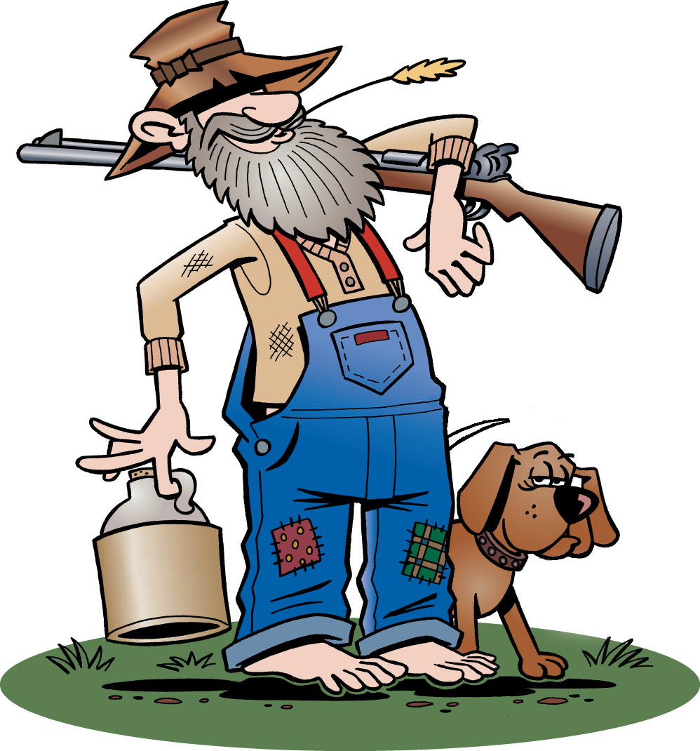 hillbilly clipart clipart panda free clipart images Redneck Drawings Redneck Cartoon People