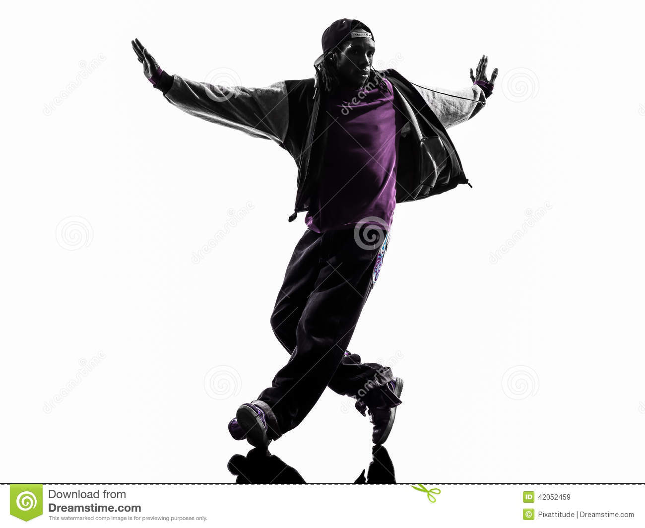 Hip Hop Dancer Black And White
