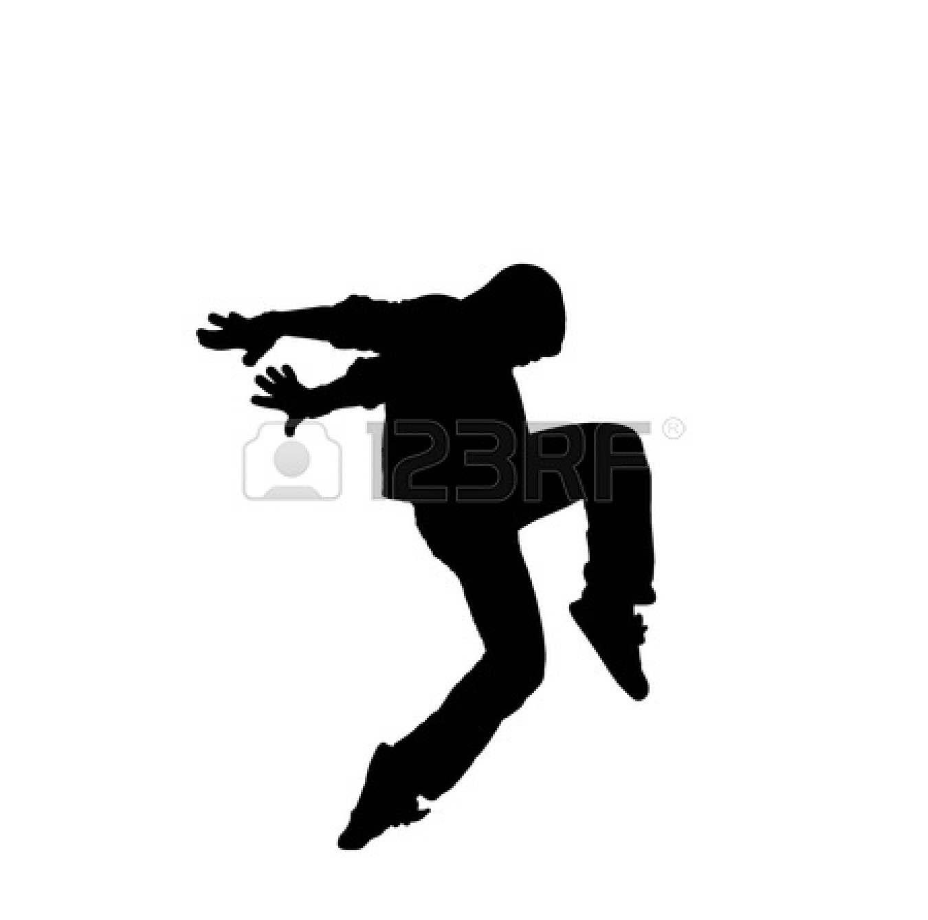 Hip Hop Dancer Black And White | Clipart Panda - Free ...