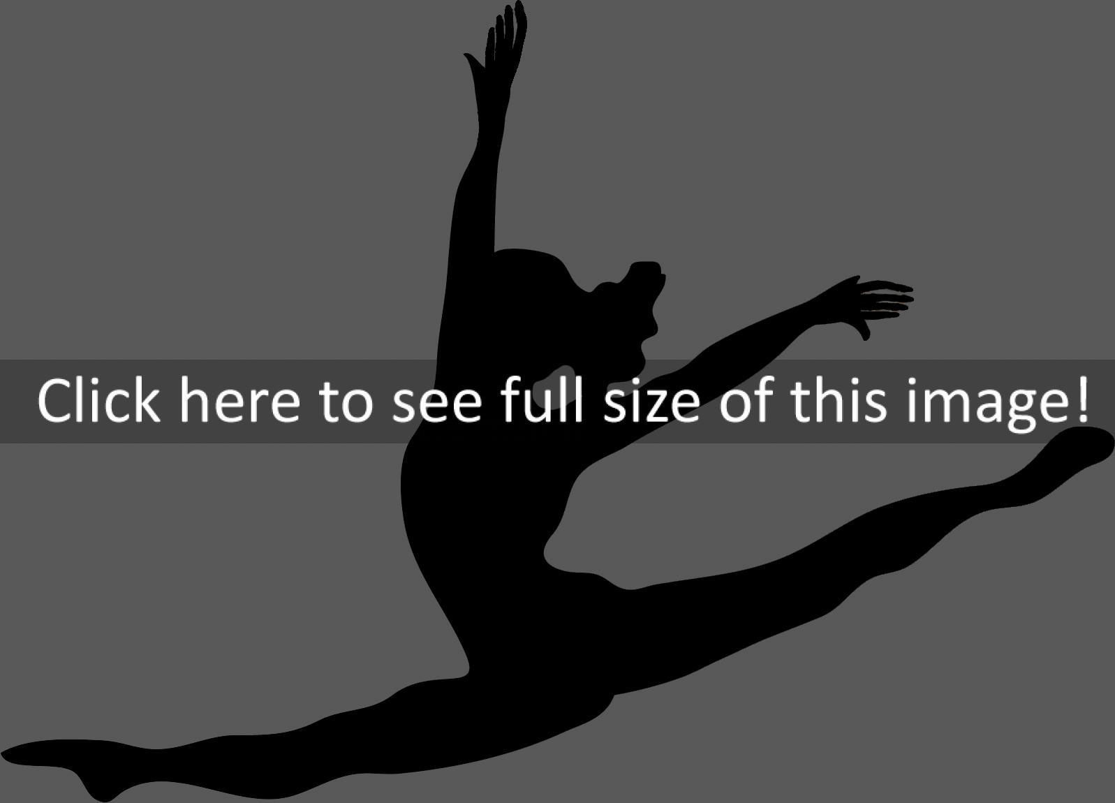 Girl Gymnastics Clipart Silhouette