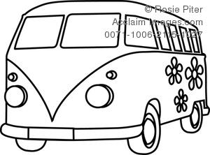 hippie van clipart black and white clipart panda free Cartoon School Bus Clip Art Black and White School Bus Clip Art in Black and White