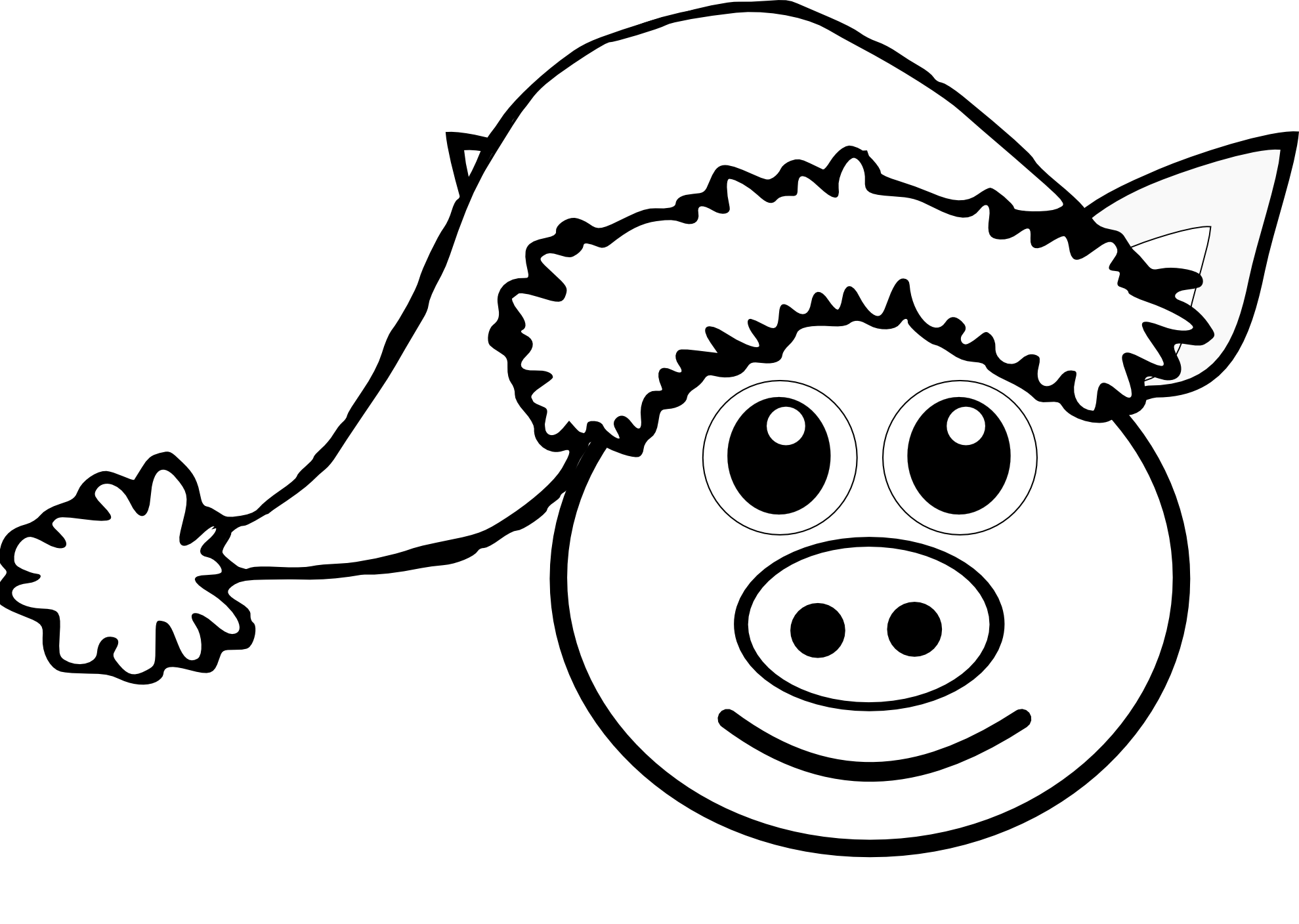Line Drawing Of A Pig Face : Hippie van clipart black and white panda free