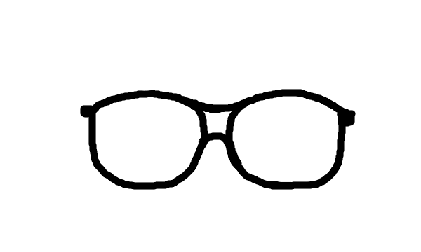 BIG nerd glasses TEMPLATE! | Clipart Panda - Free Clipart Images