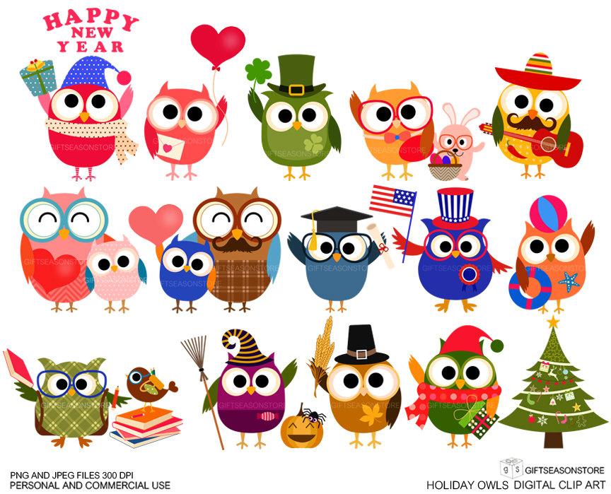 holiday owls digital clip art clipart panda free clipart images rh clipartpanda com clipart holiday free clipart holiday images
