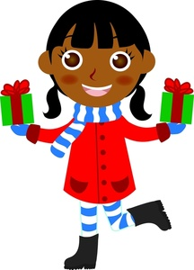 Santa claus gets present - 2 2