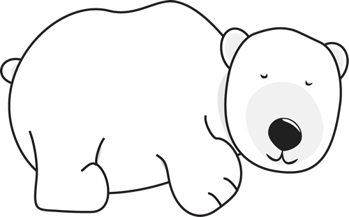 Sleeping Bear Clipart Black And White | Clipart Panda ...