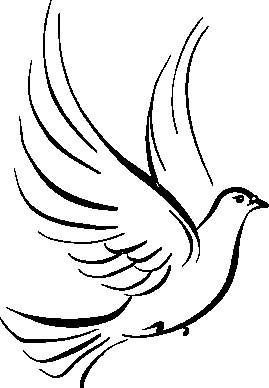 Holy Spirit Dove Clipart Black And White | Clipart Panda - Free ...
