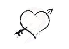 Digital Clipart Heart Rustic