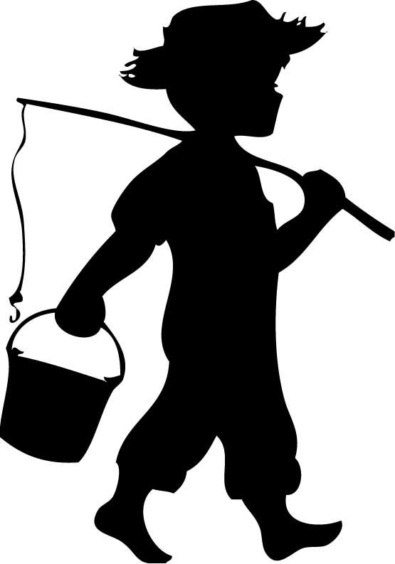 Boys Fishing Silhouettes Clipart Panda Free Clipart Images