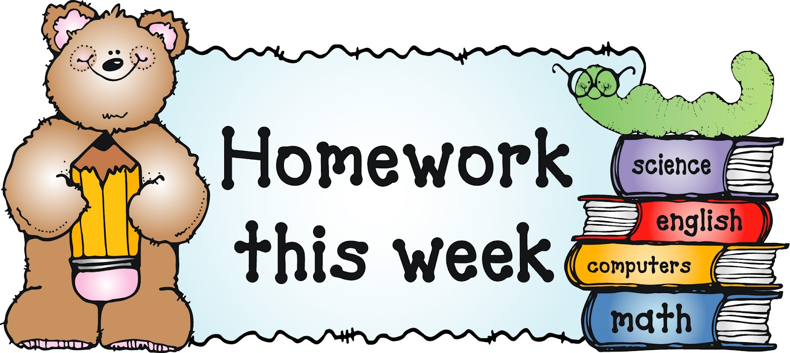 Front page of holiday homework