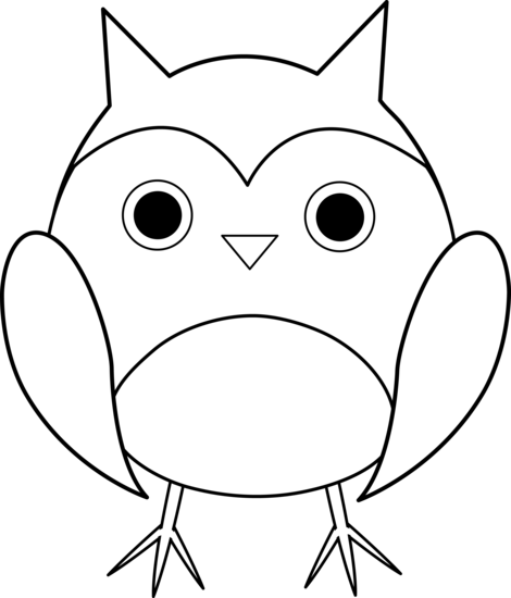 Free Clip ArtBaby Owl Clipart Black And White