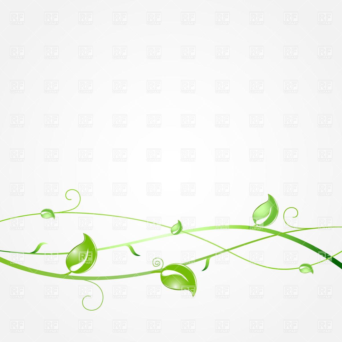 Green Leaf Border Line Green Leaves Border | ...