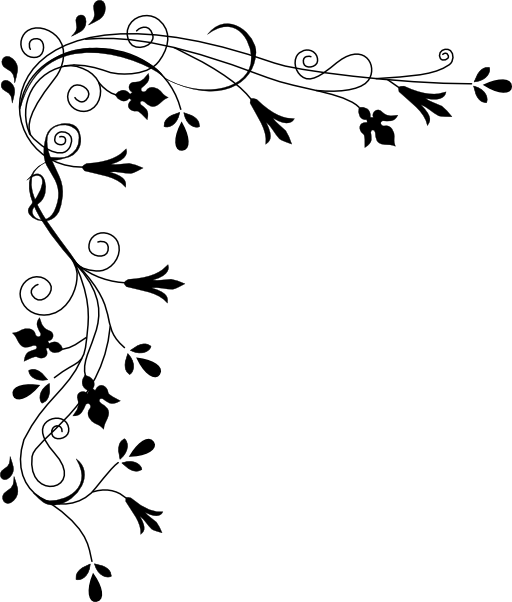 Line Art Flower Corner : Horizontal flower border clipart panda free