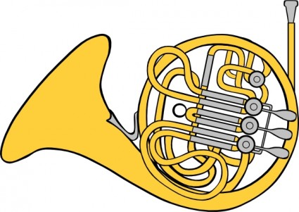 French Horn clip art. svg 176