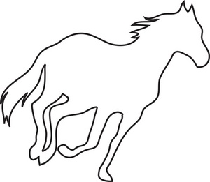 Running Horse Clipart Black And White | Clipart Panda - Free ...