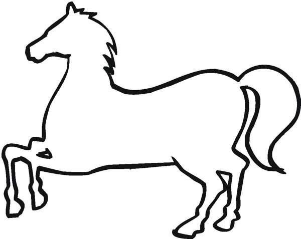 horse clip art outline clipart panda free clipart images rh clipartpanda com house outline clip art for free Abstract Horse Clip Art
