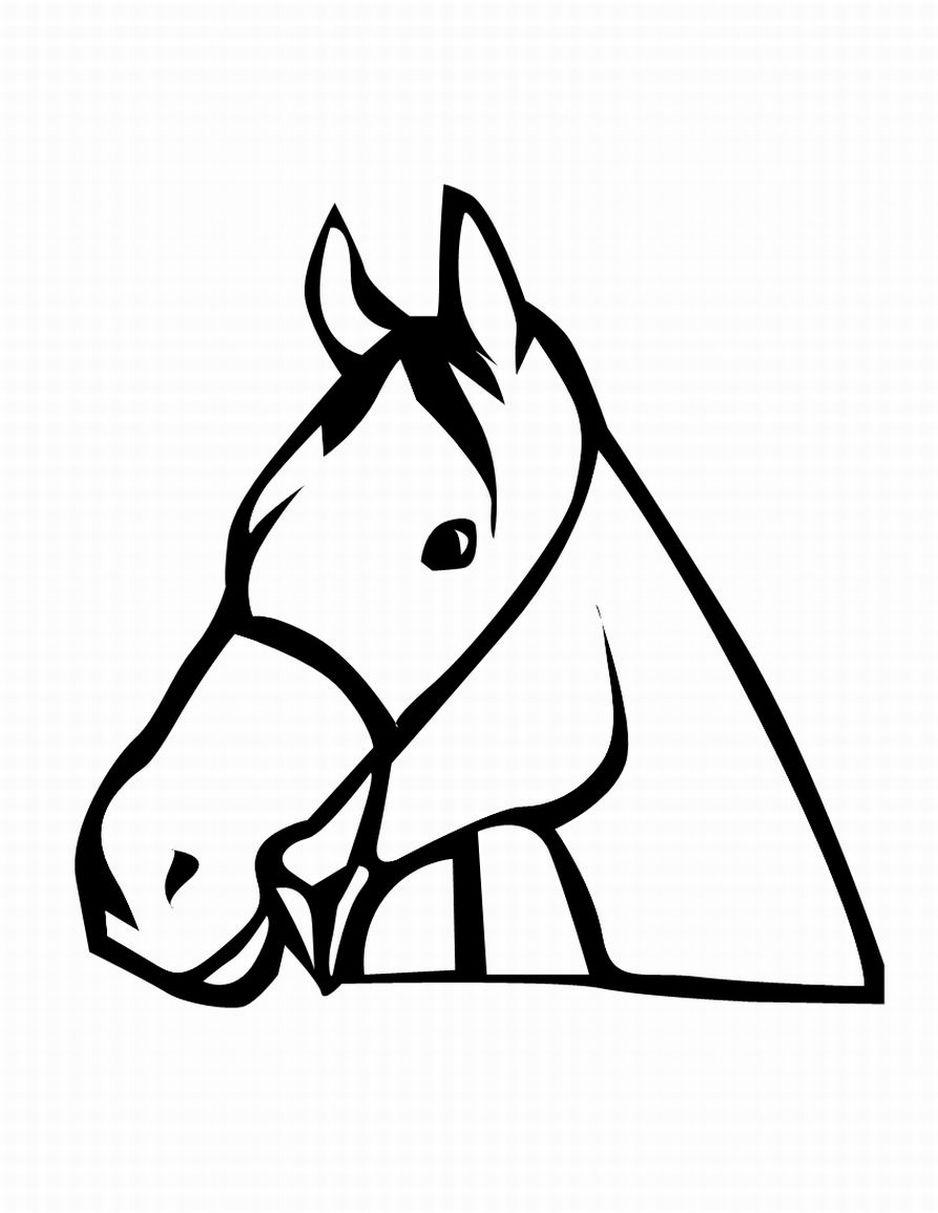 Horse Head Coloring Page | Clipart Panda - Free Clipart Images