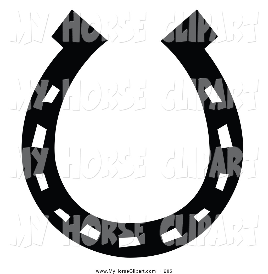 horse%20shoe%20clipart%20black%20and%20white