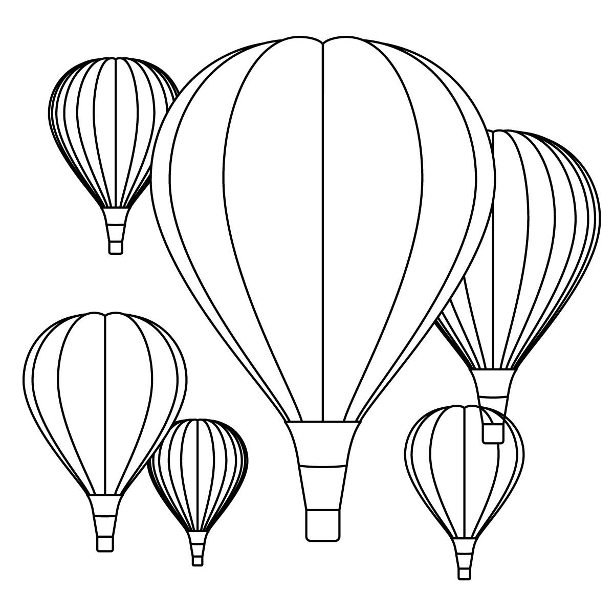 hot air balloon basket coloring page | clipart panda - free ... - Hot Air Balloon Pictures Color