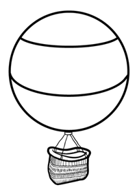 printable hot air balloon template coloring pages on art