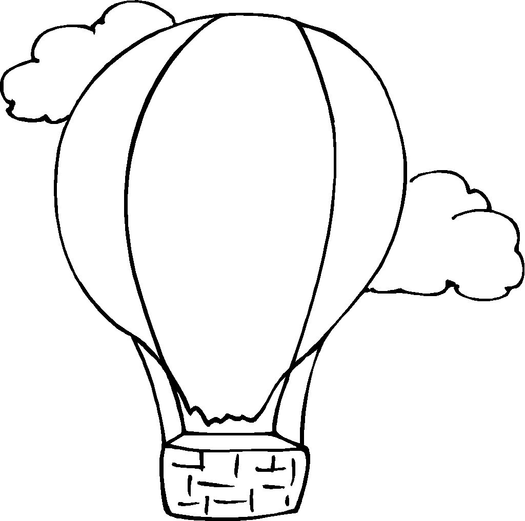 Detailed Hot Air Balloon Coloring Page : Clipart Panda ...
