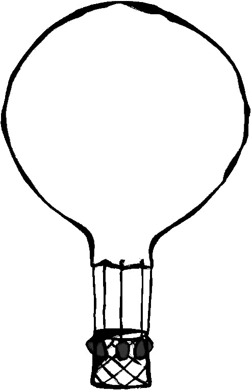 hot air balloon coloring pages - detailed hot air balloon coloring page clipart panda