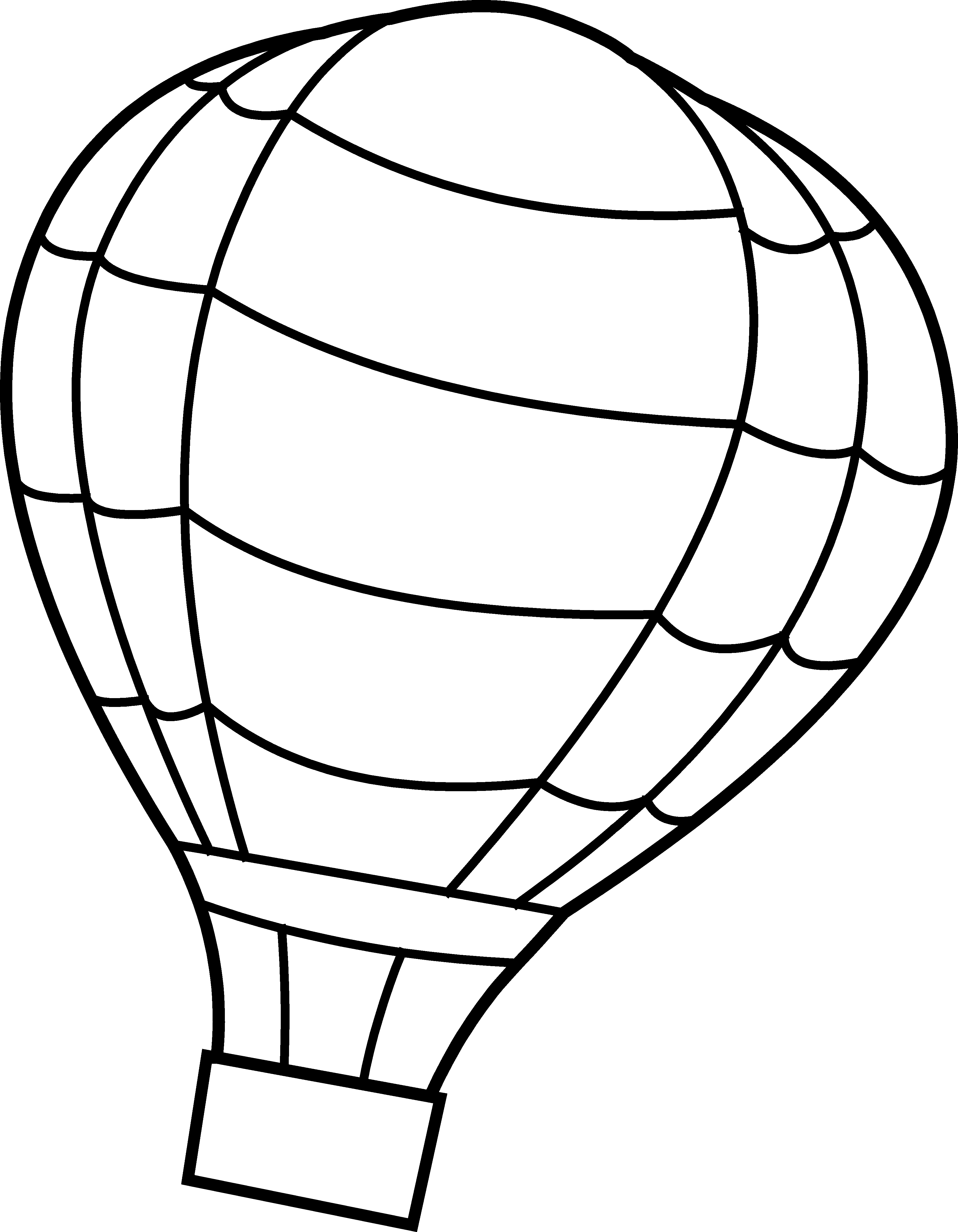 Weather Balloon Drawing Hot Air Balloon Coloring
