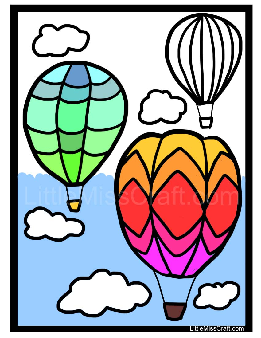 Printable coloring pages hot air balloons - Hot Air Balloon Basket Coloring Page Printable Coloring