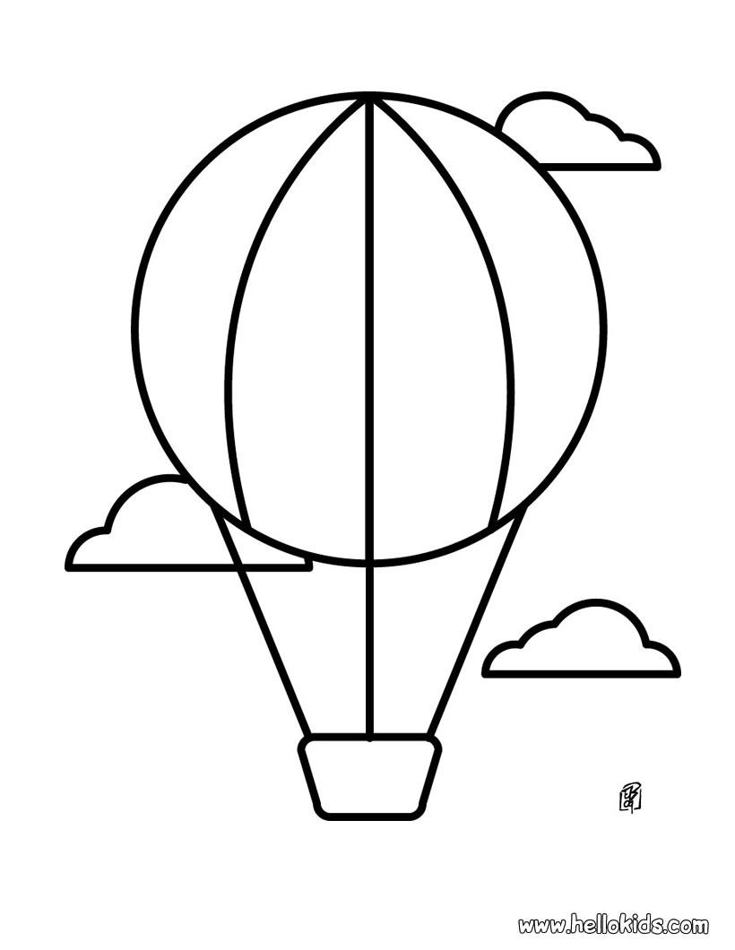 Printable coloring pages hot air balloons - Hot 20air 20balloon 20drawing