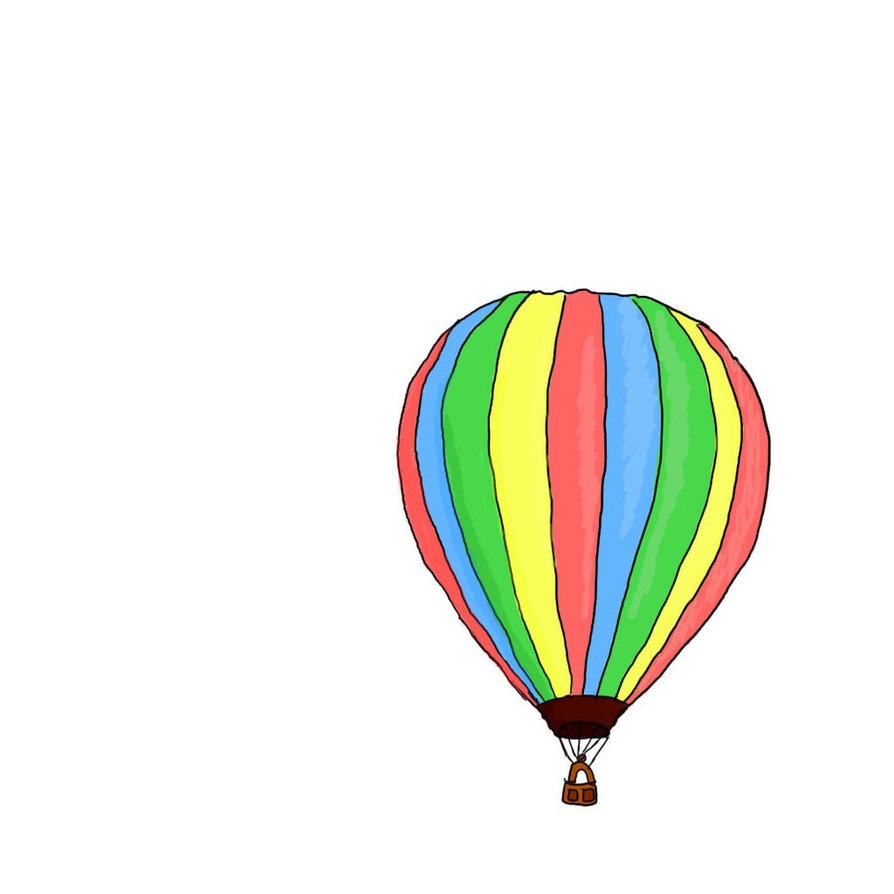 drawings of hot air balloons wwwimgkidcom the image