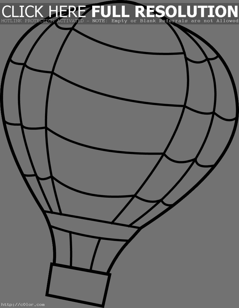 Hot Air Balloon Coloring Page | Clipart Panda - Free Clipart Images