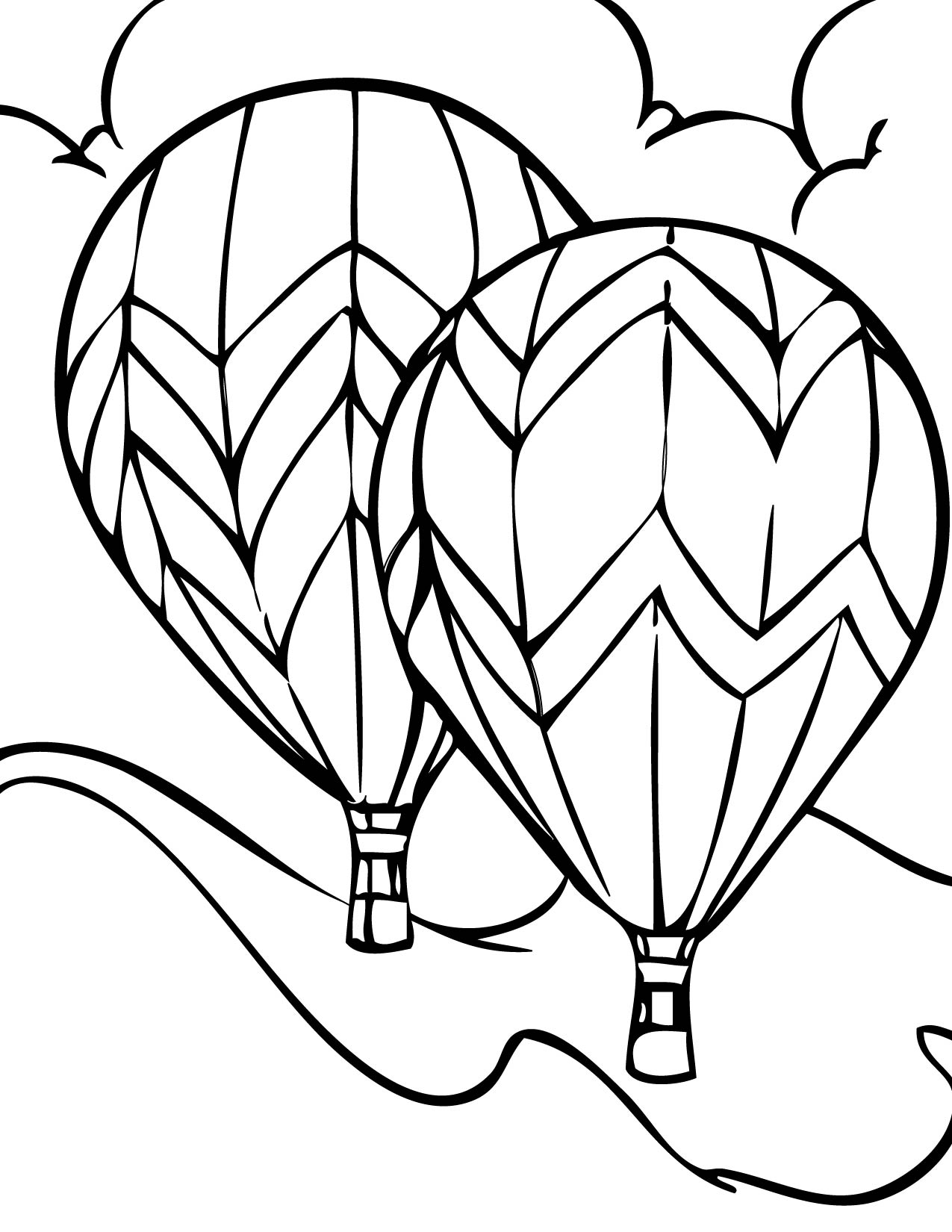 Colouring activities tes - Hot Air Balloon Drawing Template Clipart Panda Free Clipart Images
