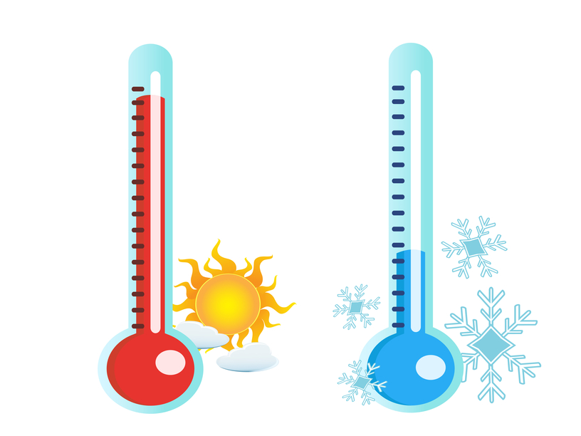 Hot And Cold Thermometer | Clipart Panda - Free Clipart Images