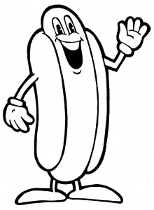 The gallery for --> Dancing Hot Dog Clipart