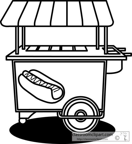 hot%20dog%20clipart%20black%20and%20white