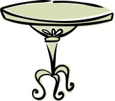 Cake On Fancy Stand Clipart