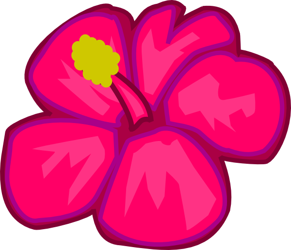 Hot Pink Flower Clipart | Clipart Panda - Free Clipart Images