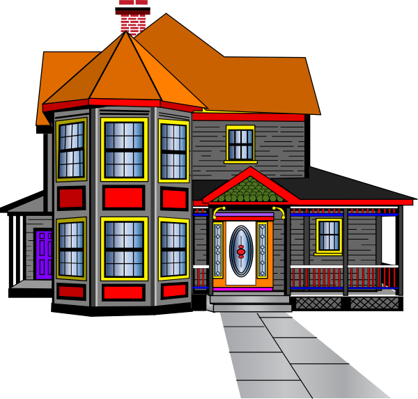 House clip art free cartoon clipart panda free clipart for Big house images