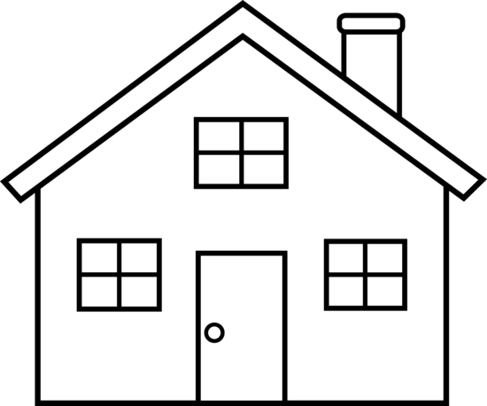Clip Art House Images Clip Art house outline clipart black and white panda free