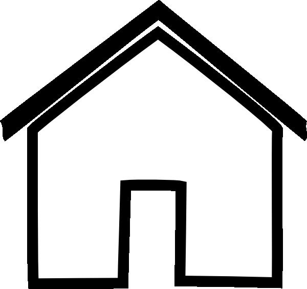 Line Art House Vector : House outline clipart black and white panda