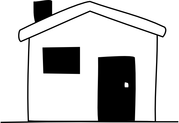 House clipart black and white clipart panda free Black and white homes