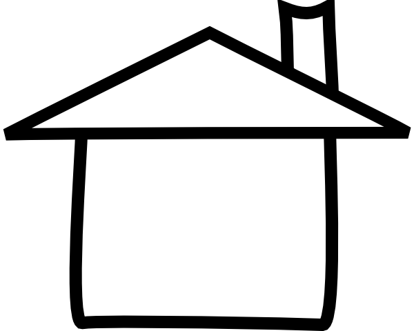 Cupola Clip Art : House outline clipart black and white panda