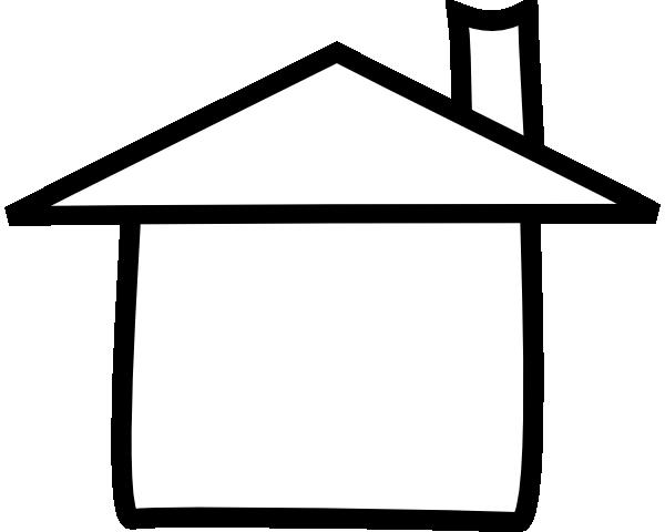 Clip Art House Outline Clipart house outline clipart black and white panda free