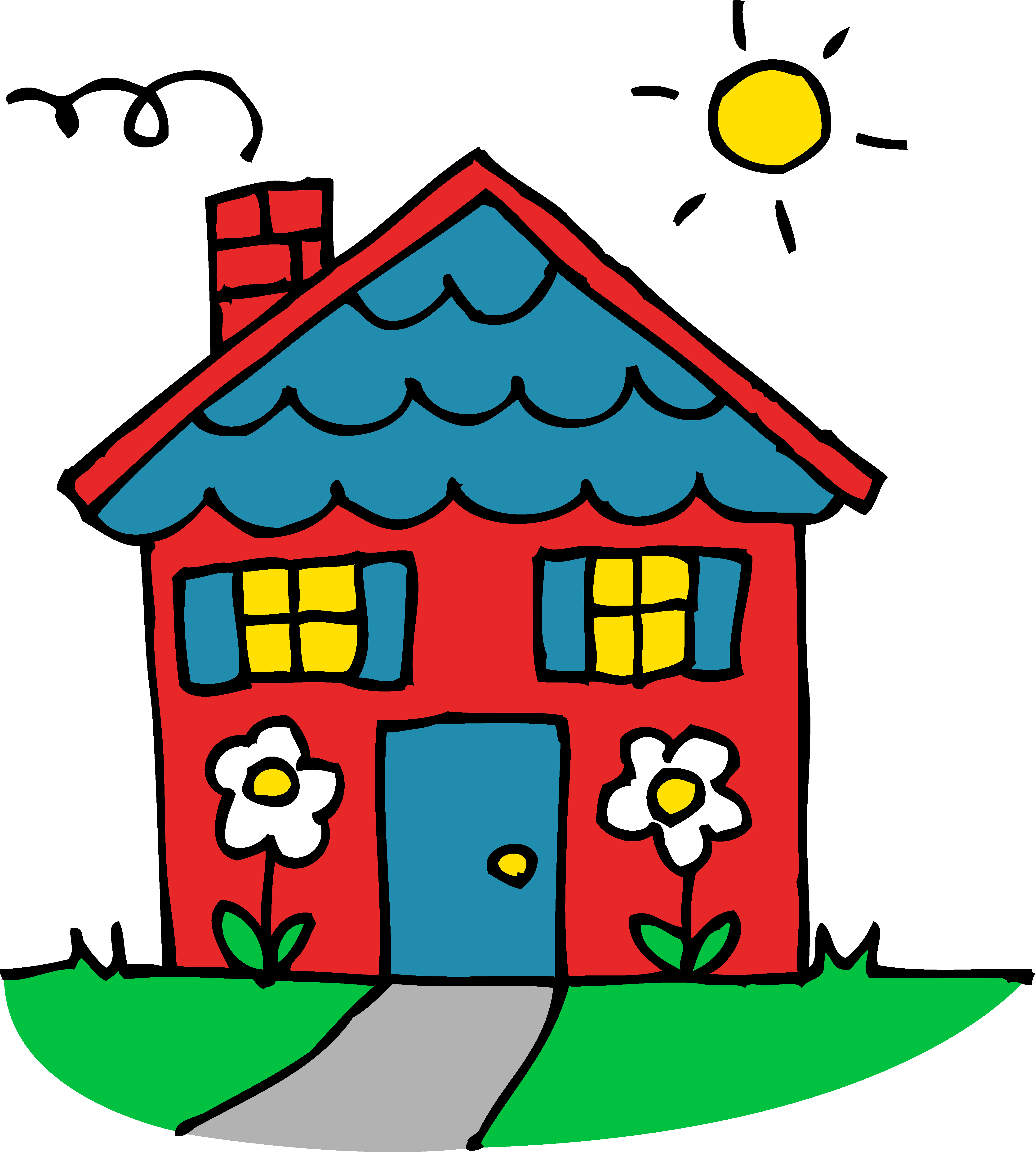 House for sale clip art clipart panda free clipart images for Casa amarilla musica