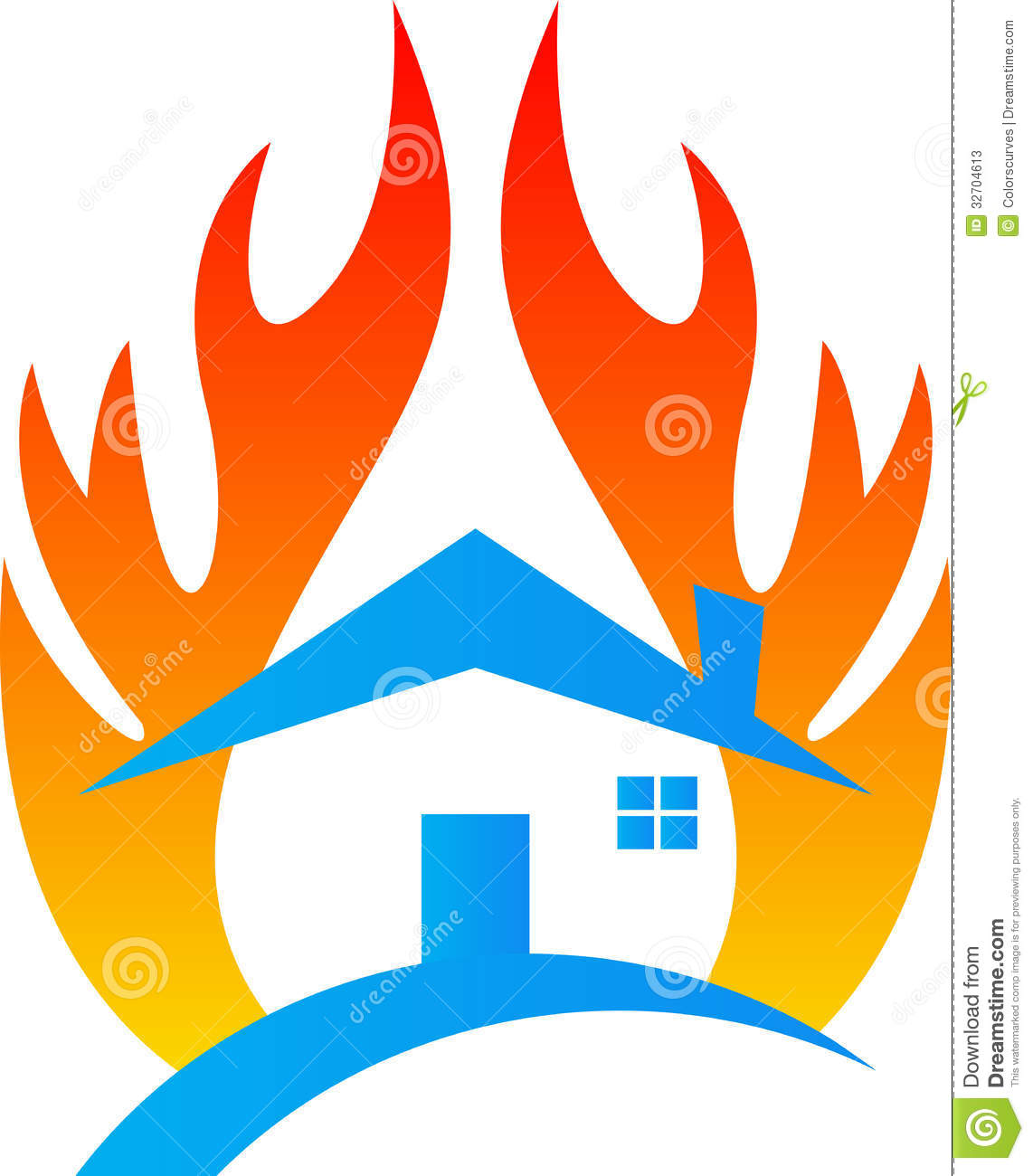 Fire House Drawing House on Fire Clip Art